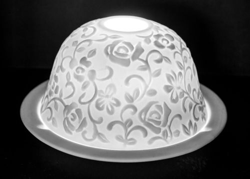 FLOWER GARDEN DOME TEALIGHT (165218)