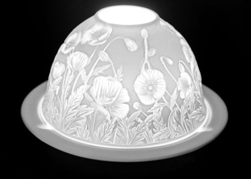 POPPY FLOWERS DOME TEALIGHT (165228)