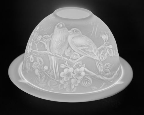 LOVE BIRDS DOME TEALIGHT (165237)
