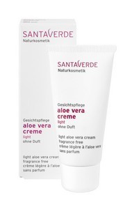 Aloe Vera Creme Light ohne Duft 30ml, Santaverde