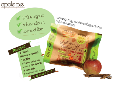 Apple-Pie Snack Bar Good-For-You 42g, Rhythm 108