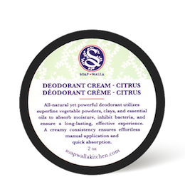 Original Deodorant Cream Citrus 56.6g, Soapwalla Kitchen