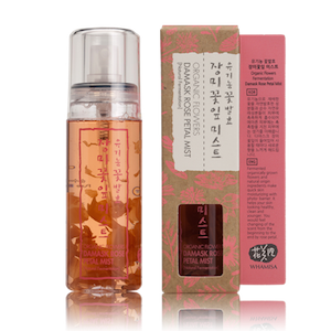 Organic Flowers Damask Rose Petal Mist 80ml, Whamisa