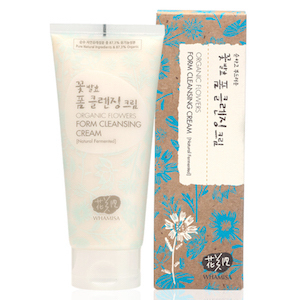 Organic Flowers Foam Cleansing Cream 200ml, Whamisa
