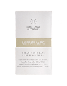 COMBINATION + OILY Organic Skincare Travel Set, Intelligent Nutrients