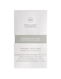 COMBINATION + DRY Organic Skincare Set, Intelligent Nutrients