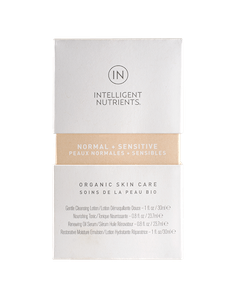 NORMAL + SENSITIVE Organic Skincare Travel Set, Intelligent Nutrients