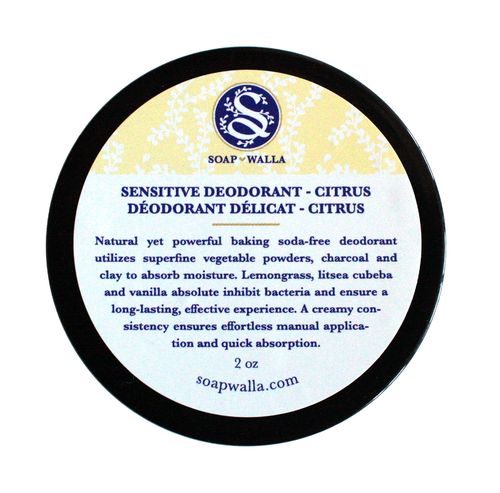 Sensitive Skin Deodorant Cream Citrus Mint 59ml, Soapwalla Kitchen