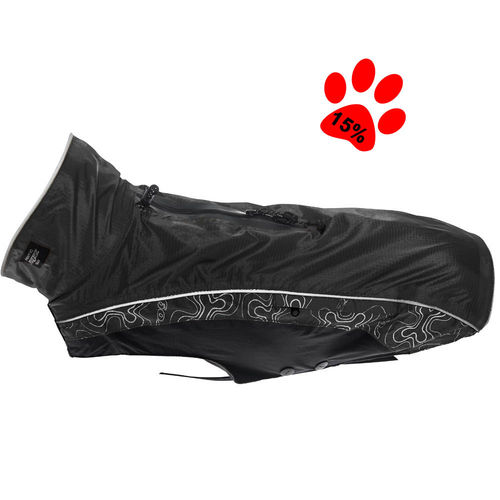 Dog raincoat Rainskin, black