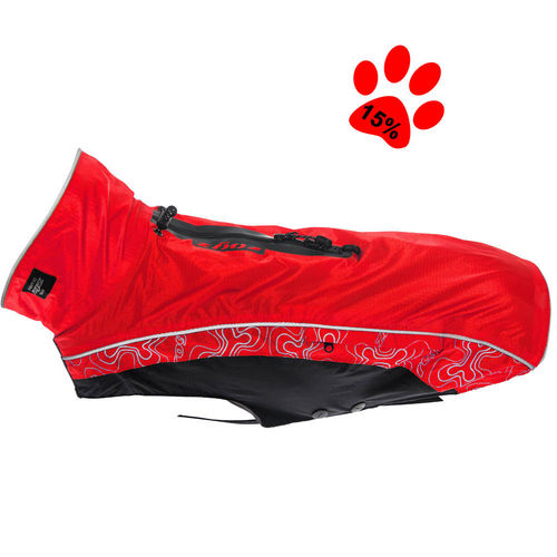 Dog raincoat Rainskin, red