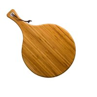 REGENT BAMBOO PADDLE SERVING BOARD ROUND (280MM:DX430X16MM)