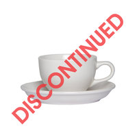 REGENT BASIC WHITE PORCELAIN CUP & SAUCER (220ML)
