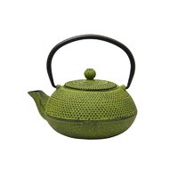 REGENT CAST IRON CHINESE TEAPOT LIME GREEN (600ML)