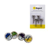 REGENT MEAT THERMOMETER, 4 PIECE SET [BEEF,LAMB,PORK,POULTRY]
