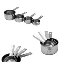 REGENT BAKEWARE MEASURING CUP S/S 4PC SET (60/80/125/250ML)