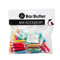 BAR BUTLER MULTI-COLOURED COCKTAIL UMBRELLAS, 50 PCE PACK