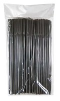 BAR BUTLER STRAWS BLACK BENDY, 100 PCS (5MM)