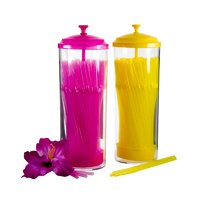 BAR BUTLER BENDY COLOURED STRAWS IN HOLDER 100 PCS (4MM)