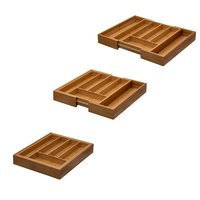 REGENT BAMBOO EXPANDABLE CUTLERY TRAY (260/400X320X50MM)