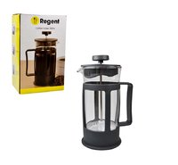 REGENT COFFEE PLUNGER BLACK WITH PLASTIC FRAME BUDGET, 3 CUP (350ML)