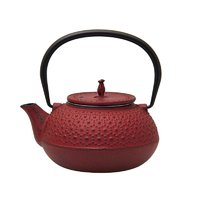 REGENT CAST IRON CHINESE TEAPOT RED (600ML)