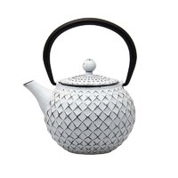 REGENT CAST IRON CHINESE TEAPOT WHITE (500ML)