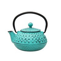 REGENT CAST IRON CHINESE TEAPOT TURQUOISE (500ML)