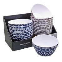 MELAMINE ROUND BOWL NAVY WILD (152MM:DX63MM)