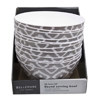 MELAMINE SALAD BOWL GREY WILD (254MM:DX120MM)
