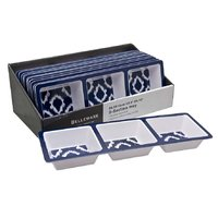 MELAMINE 3-SECTION TRAY NAVY WILD (343X120MM)