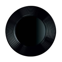 LUMINARC HARENA BLACK TEMPERED GLASS DINNER PLATE (250MM:DIA)