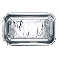 LUMINARC TEMPERED GLASS COW BUTTER DISH