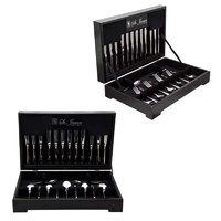 ST. JAMES CUTLERY KENSINGTON 88 PIECE SET IN WOODEN CANTEEN