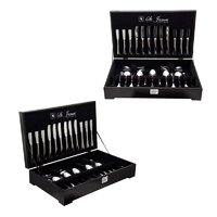 ST. JAMES CUTLERY OXFORD 112 PIECE SET IN WOODEN CANTEEN