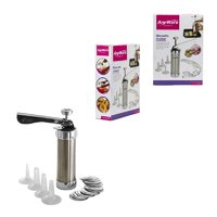 'ANYWARE' BISCUIT MAKER SET WITH S/STEEL BODY, 25 PIECE SET
