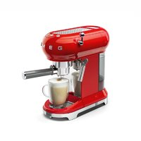 SMEG 50'S RETRO STYLE FIERY RED ESPRESSO COFFEE MACHINE