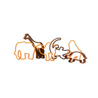 REGENT BAKEWARE COOKIE CUTTER PLASTIC ANIMALS, 6 PIECE SET