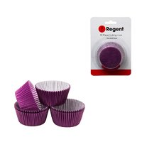 REGENT CAKE CUPS PLAIN PURPLE, 50 PIECE (55X37.5MM)