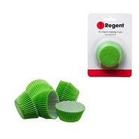 REGENT CAKE CUPS PLAIN GREEN, 50 PIECE (50X32.5MM)