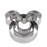 REGENT BAKEWARE MOUSE 3 TIER CAKE CUTTERS 3 PIECE SET