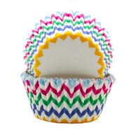 REGENT CAKE CUPS CHEVRON BRIGHT COLOURS, 50 PCS (50X37.5MM)