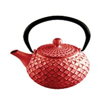 REGENT CAST IRON CHINESE TEAPOT RED (500ML)