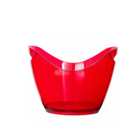 BAR BUTLER WINE BUCKET OVAL CLEAR RED PS PLASTIC 4L (270X205X155MM)
