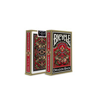 BICYCLE DRAGON BACK PLAYING CARDS (GOLD)