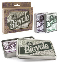 BICYCLE AUTOCYCLE NO.808 2 PACKS OF PLAYING CARDS IN A TIN