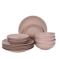 REGENT STONEWARE MATT BEIGE 18 PIECE DINNER SET