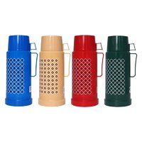VACUUM FLASKS GLASS LINED IN ASSORTED COLOURS 1LTR