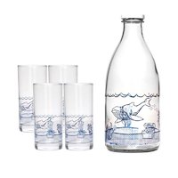 REGENT DRINK SET UNDER THE SEA WHALE 5PC (1LT BOTTLE & 4 HIGH BALL TUMBLERS)